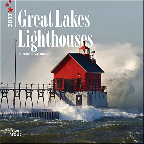 Lighthouses of the Great Lakes Calendar 2017 ~ Deluxe Mini Small Wall Calendar (7x7)