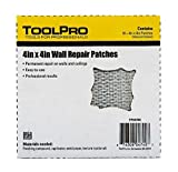 ToolPro 4 x 4'' Wall Repair Patches - 10 Pack of Patches