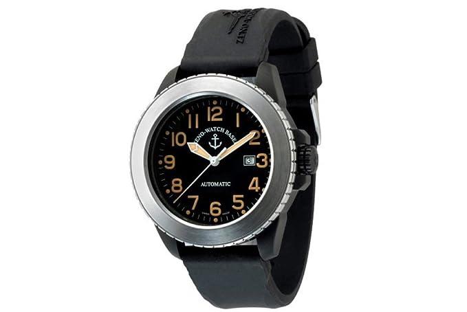 Zeno-Watch Reloj Mujer - Jumbo Biker Automática black&stainless - 6412-bk1-a15
