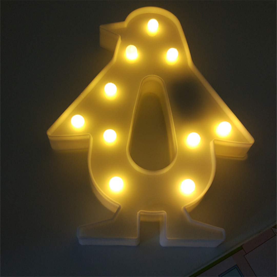 BGFHDSD White Romantic Indoor Decorative Nights Lamps 3D Penguin LED Night Light Home Christmas Decoration Animal Lights White