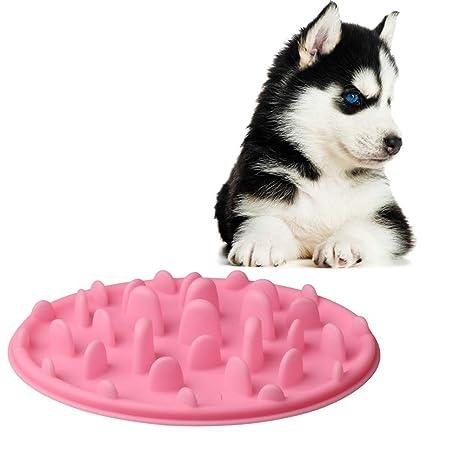 Zhiye Catch - Comedero Interactivo para Gatos, Cuenco de Silicona para Comer Lentamente, Cuenco
