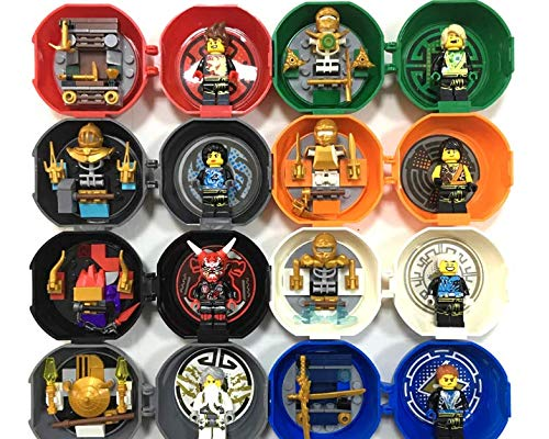 Minifigs in 1 Swordsman Ninja Kendo Training Pod Mini Figures Pack Kai Jay 8 No (2 Set with Box)