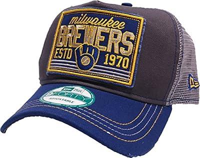 New Era MLB Milwaukee Brewers Trucker Tear 9Forty A-Frame Trucker Cap