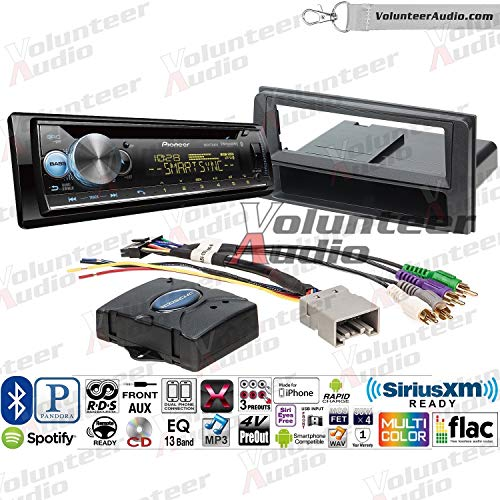 Volunteer Audio Pionner DEH-S6100BT Single Din Radio Install Kit with Bluetooth, Sirius XM Ready, CD Player Fits 2003-2009 Toyota 4Runner (Works with Factory Navigation and JBL System - Pionner Radio Gps Car