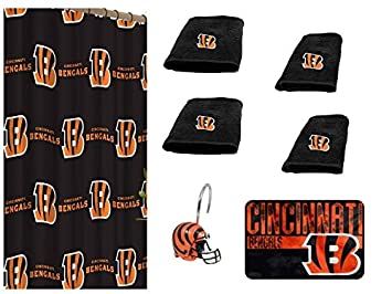 c27c8c88 Amazon.com: NFL Cincinnati Bengals 18 Piece Bath Ensemble: Set ...