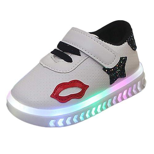 Zapatillas Niña Luces K-youth Zapatillas Niños LED Luz Fashion Sneakers Luminous Chica Chico Botas