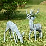 SPI Home 33686 Garden Deer Pair Sculpture