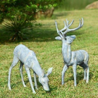 SPI Home 33686 Garden Deer Pair Sculpture by SPI Home