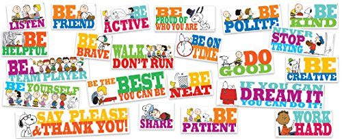 Eureka Snoopy and Peanuts Positive Quotes Classroom Bulletins, 0.1'' x 18'' x 28'', 22pc -
