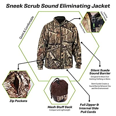 SneekTec Sneek Suit - Sound Eliminating Camo Hunting Gear For Over Your Clothing