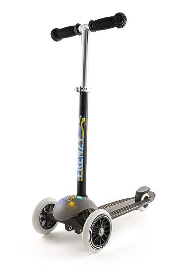 Patinete de 3 ruedas Slamm Frenzy Negro con Luces: Amazon.es ...