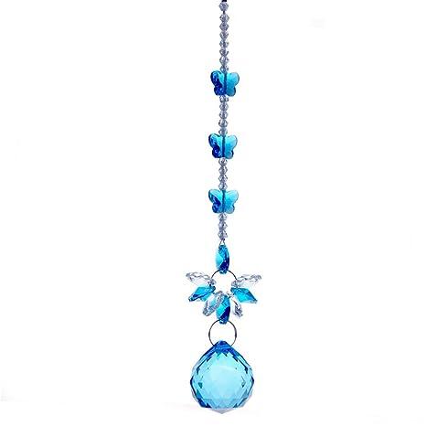 H & D azul claro bola de cristal para colgar lámpara de ...