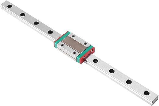 250mm Gu/ía de Carril Lineal Diapositivas de Deslizamiento Lineal Riel con Carro de Bloqueo MGN12H para Impresora 3D M/áquina CNC 250//300//400//500//550 mm