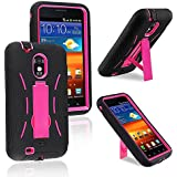 eForCity? Hybrid Case with Stand Compatible with Samsung? Epic 4G Touch D710, Hot Pink Hard/Black Skin