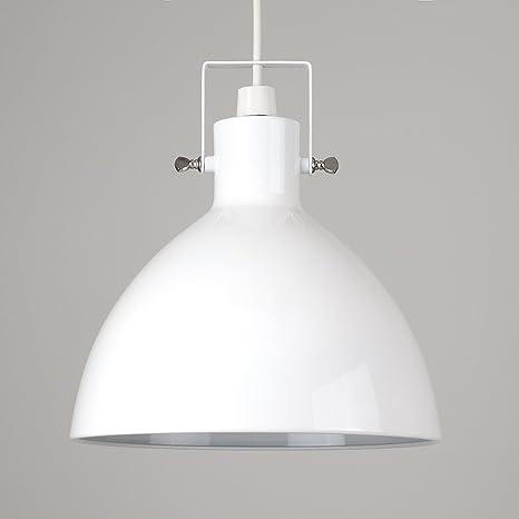 MiniSun - Pantalla para lámpara de techo Commodore, de estilo retro, metálica con forma de cúpula