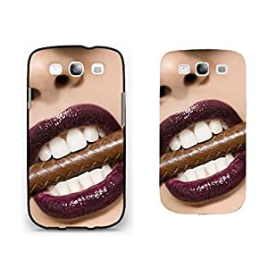 Vogue Sexy Woman Lip Design Samsung Galaxy S3 Case Cover Fashion Face Smoke Cigar Hard Plastic Cell Phone Case Shell for Men