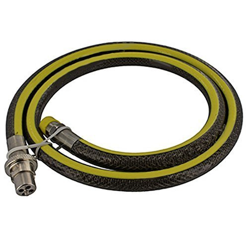 Spares2go Universal Oven Cooker Gas Supply Hose Pipe (5ft 1/2 inch, Straight Bayonet, BS EN14800 CE) (1 Flexible Gas Hose)