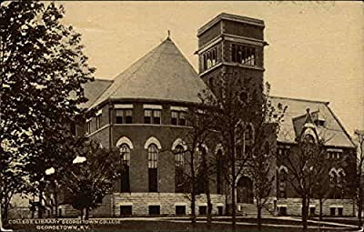 College Library at Georgetown College Georgetown, Kentucky Original Vintage Postcard