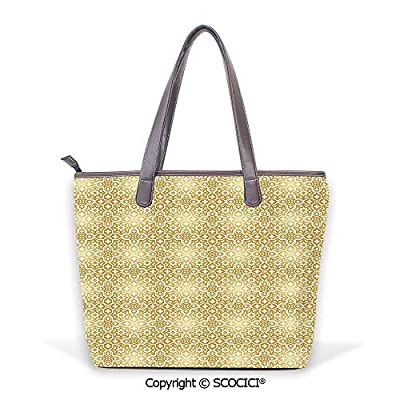 SCOCICI Vintage 20s Gatsby Party Casual Stylish Women Tote Leather Handbag