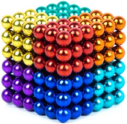 Sky Magnets 5 mm Magnetic Balls Cube Fidget Gadget Toys Rare Earth Magnet Office Desk Toy Games Multicolored Beads Stress Relief Toys for Adults Black