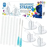 Best Thermos Toddler Straw Cups - 12Packs (6 Straws+2 Cleaning Brushes) for Thermos Replacement Review