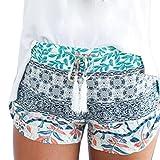 DaySeventh Women Sexy Hot Pants Summer Casual High Waist Beach Shorts (XL, Blue)