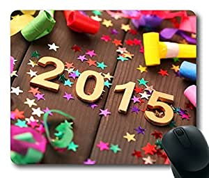 Rectangle mouse pad Diy Design Happy New Year 2015