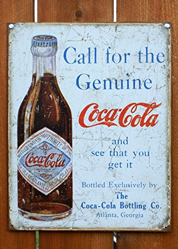 Coke - Call for the Geniune Metal Tin Sign