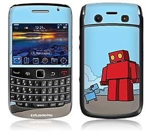 MusicSkins, MS-EXDG40043, EXPLODINGDOG - Red Robot, BlackBerry Bold (9700), Skin