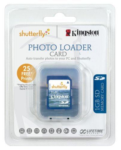 Kingston 1 Gb Sd Memory Card With Shutterfly Photo Loader