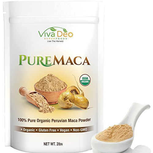 Pure Maca 2lb Value Size   100% Raw Organic Pure Maca Powder   Non-GMO   by Viva Deo Superfoods