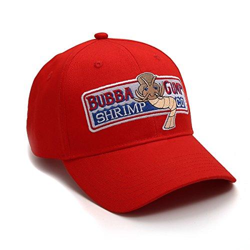 Adjustable Bubba Gump Baseball Cap Shrimp Co. Embroidered Hat (Red)