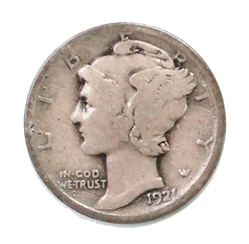 (1921 P Mercury Dime Dime Good+)