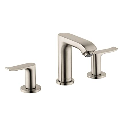 Hansgrohe 31083821 Metris Widespread Bathroom Faucet With Lever