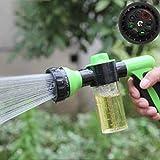 DAVEVY Foam Water Sprayer Gun Car Pet Wash Bubble Sprayer Garden Wating Spray Nozzle High Pressure 8 Pattern Metal Metal Watering Nozzle (Random Color)