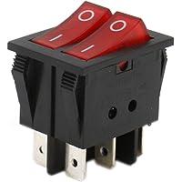 Heschen Doble interruptor basculante SPST encendido-apagado, con 6Terminales