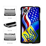 BleuReign(TM) Ukraine and USA Mixed Flag Plastic Phone Case Back Cover Google Nexus 5 D820
