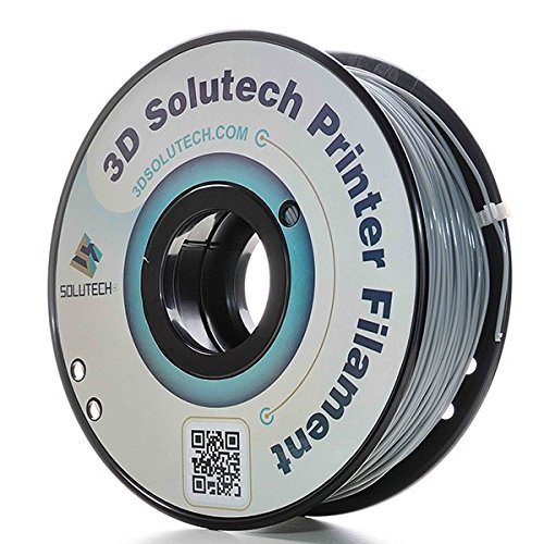 3D Solutech Real Grey 1.75mm ABS 3D Printer Filament 2.2 LBS (1.0KG)