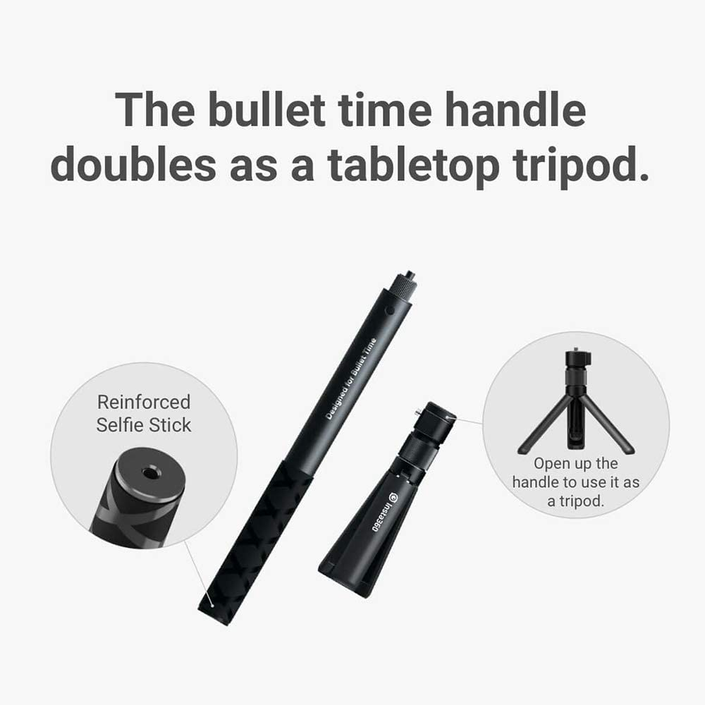 Insta360 Bullet Time Bundle with Invisible Selfie Stick Folded Tripod Handle for Insta360 ONE X//ONE