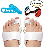 Bunion Corrector and Bunion Splint Care Kit for Bunion Relief, Hallux Valgus Corrector, Big Toe Straightener,Joint Protector Brace, Bunion Pads Toe Separators Spacers Surgery Aid Night Men and Women
