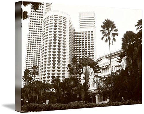 Wall Art Print entitled Old And New, Raffles Singapore by Optic Shoot Gallery | 24 x - Optics Singapore