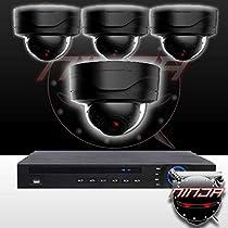 Ninja 4 Megapixel IP Mini Dome Camera 4CH Kit
