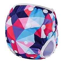 Storeofbaby Baby Reusable Swim Diaper Cute Pattern Print Cloth Covers 0 3 Years