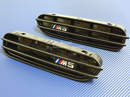 B2 05-10 BMW E60 M5 FENDER GILLS SIDE GILL GRILLE Carbon (E60 Carbon)