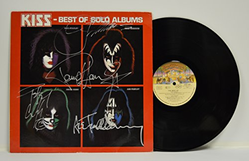 The Best Of Kiss Solo Albums Signed Vinyl  German Press  Lp By Paul Stanley  Gene Simmons  Ace Frehley And Peter Criss Jsa Authenticated