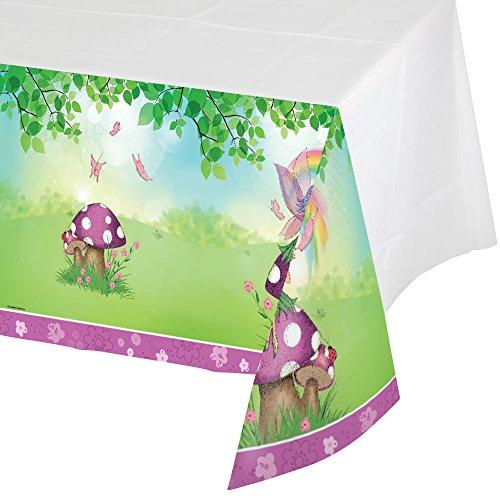 Creative Converting 725595 Border Print Plastic Tablecover, 54 x 102