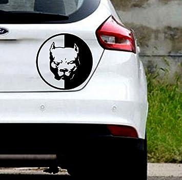 Auto Styling Aufkleber Pitbull Super Hero Hund Auto