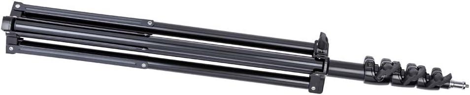 86 Premium Air-Cushioned Light Stand Interfit LS201 Studio Essentials Professional Black