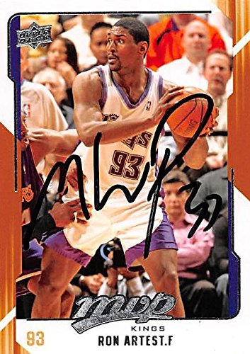 ba3cc85d0 Ron Artest autographed Basketball Card (Sacramento Kings) 2008 Upper Deck  MVP  137 -