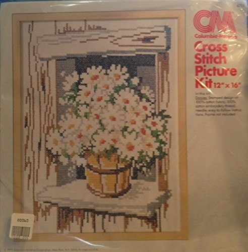 - Columbia Minerva Stamped Cross Stitch - Kit #6711 - Daisies 12